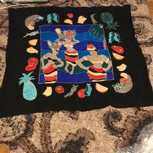 NWOT Silk Scapes Hand Painted ART Work Scarf